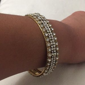 BOGO equal or less value Rhinstone Bracelet 2.75""